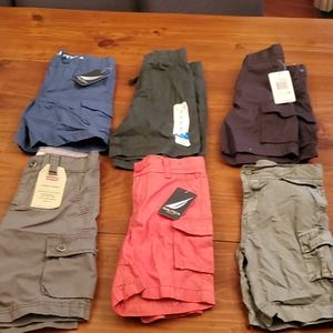 Lot of 6 boys size 4t/4 cargo shorts